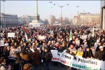 manifestation contre le massacres de Gaza